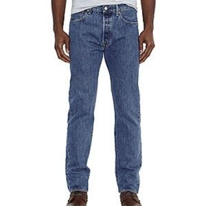 Levi Mens 501 Button Fly Jeans   3…